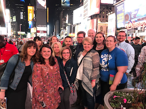 Group at Times Square