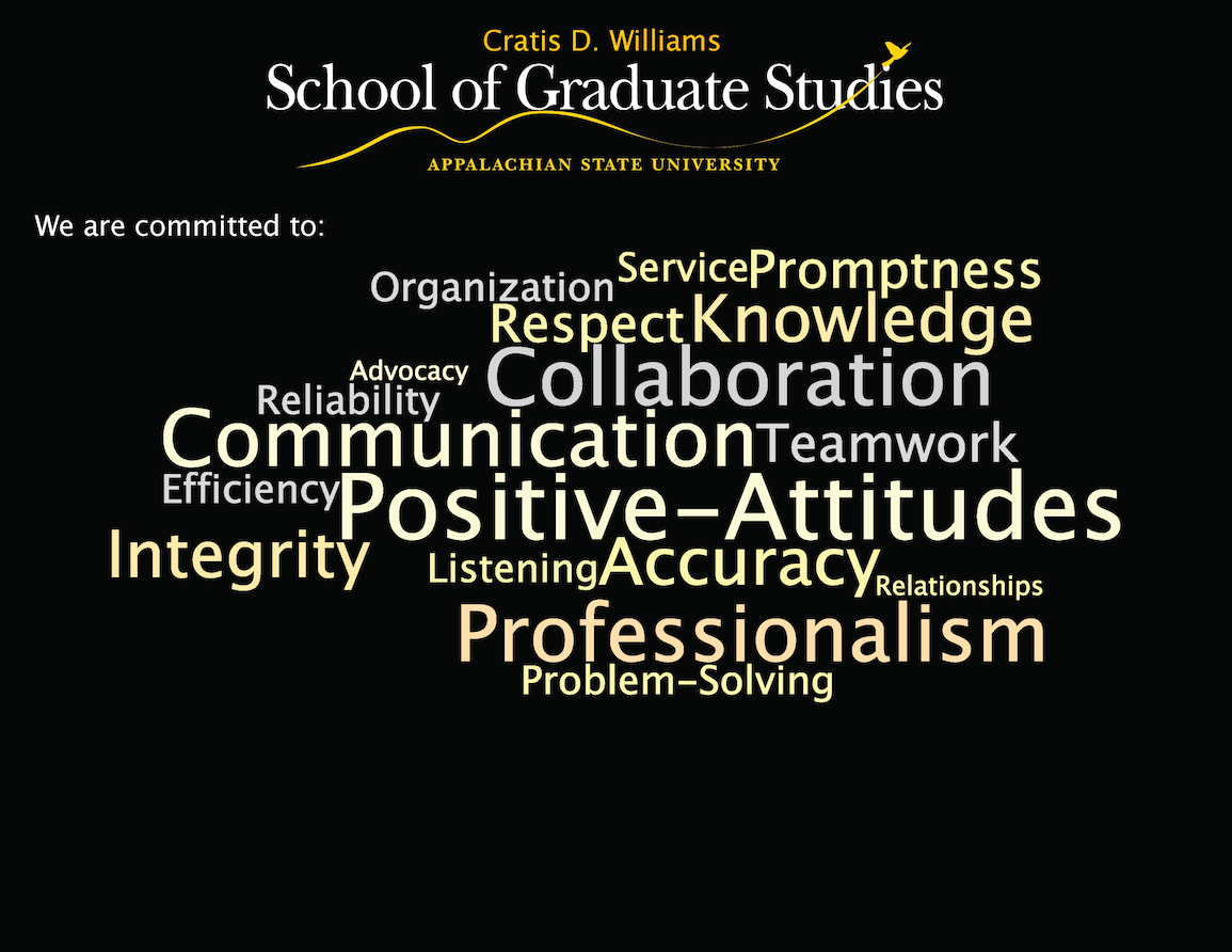 Graduate School Values Word Cloud